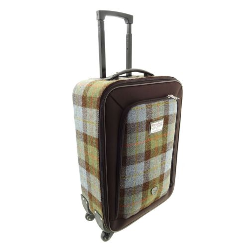 Authentic Harris Tweed Travel Trolley Cabin Bag